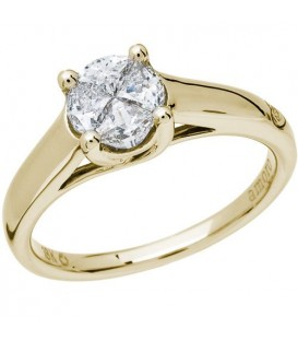 Rings - 0.53 Carat Quattour for Amoro Diamond Ring 18Kt Yellow Gold