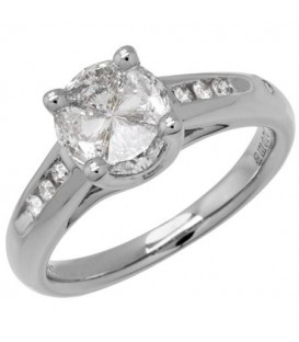 1.17 Carat Quattour for Amoro Diamond Ring 18Kt White Gold