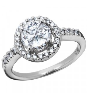 Rings - 1.01 Carat Quattour for Amoro Diamond Ring 18Kt White Gold