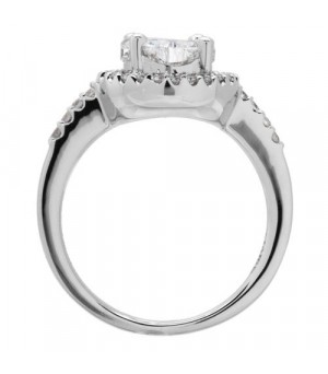 1.01 Carat Invisible Set for Amoro Diamond Ring 18Kt White Gold