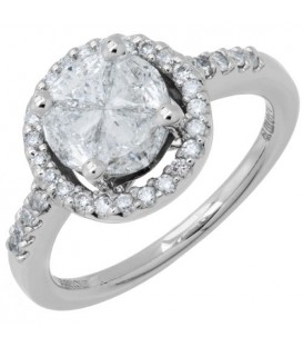 Rings - 1.35 Carat Quattour for Amoro Diamond Ring 18Kt White Gold