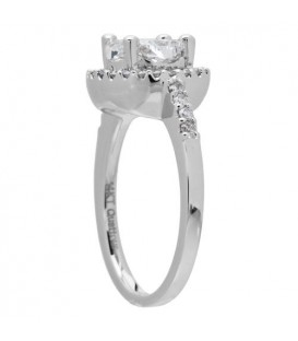 1.35 Carat Quattour for Amoro Diamond Ring 18Kt White Gold