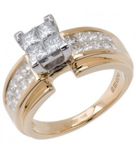 Rings - 1.26 Carat Quattour for Amoro Diamond Ring 18Kt Two-Tone Gold