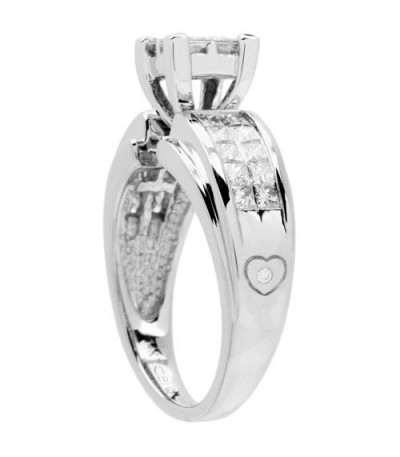 0.72 Carat Quattour for Amoro Diamond Ring 18Kt White Gold