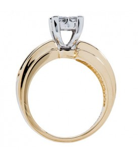 0.72 Carat Quattour for Amoro Diamond Ring 18Kt Two-Tone Gold