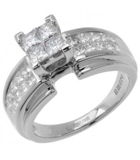 Rings - 1.02 Carat Quattour for Amoro Diamond Ring 18Kt White Gold
