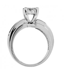 1.02 Carat Invisible Set for Amoro Diamond Ring 18Kt White Gold