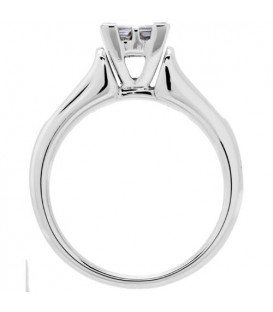 0.78 Carat Quattour for Amoro Diamond Ring 18Kt White Gold