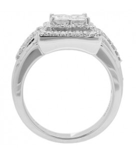 1.84 Carat Invisible Set for Amoro Diamond Ring 18Kt White Gold