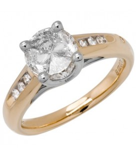 Rings - 1.84 Carat Quattour for Amoro Diamond Ring 18Kt Two-Tone Gold