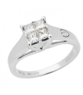 Rings - 0.44 Carat Quattour for Amoro Diamond Ring 18Kt White Gold