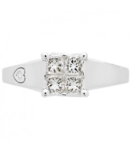 0.44 Carat Quattour for Amoro Diamond Ring 18Kt White Gold