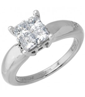 1.04 Carat Quattour for Amoro Diamond Ring 18Kt White Gold