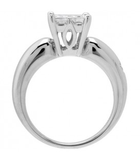 1.04 Carat Invisible Set for Amoro Diamond Ring 18Kt White Gold