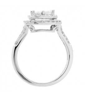 1.42 Carat Invisible Set for Amoro Diamond Ring 18Kt White Gold