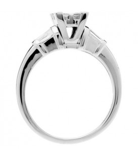 0.88 Carat Invisible Set for Amoro Diamond Ring 18Kt White Gold