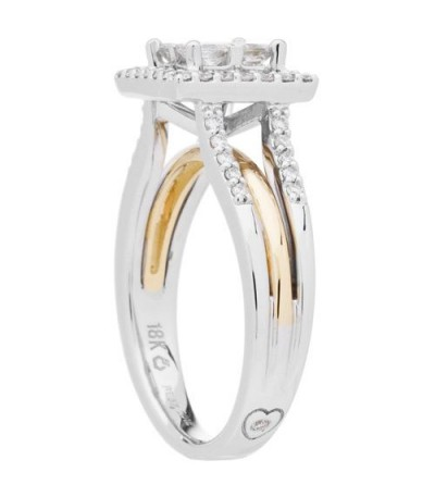 0.76 Carat Invisible Set for Amoro Diamond Ring 18Kt Two-Tone Gold