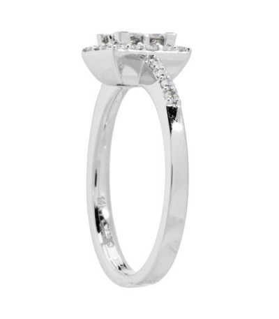 0.78 Carat Invisible Set for Amoro Diamond Ring 18Kt White Gold