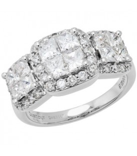 2.06 Carat Quattour for Amoro Diamond Ring 18Kt White Gold
