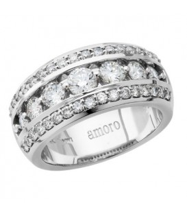 1.56 Carat Round Brilliant Diamond Ring 18Kt White Gold