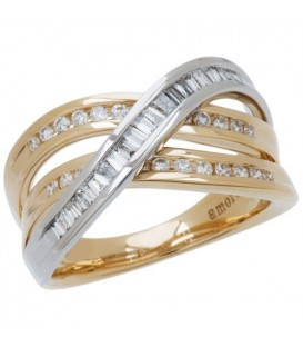 More about 0.56 Carat Round Brilliant Diamond Ring 18Kt Two-Tone Gold