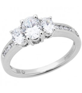 Rings - 1.02 Carat Oval Cut Eternitymark Diamond Ring 18Kt White Gold