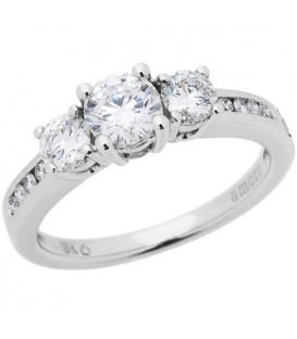 0.98 Carat Round Brilliant Eternitymark Diamond Ring 18Kt White Gold