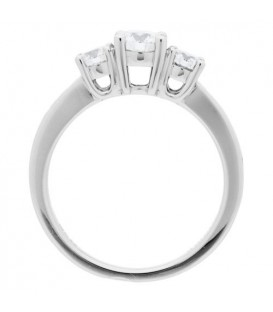 Rings - 0.98 Carat Round Brilliant Eternitymark Diamond Ring 18Kt White Gold