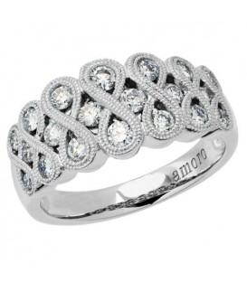 Rings - 0.75 Carat Round Brilliant Eternitymark Diamond Ring 18Kt White Gold