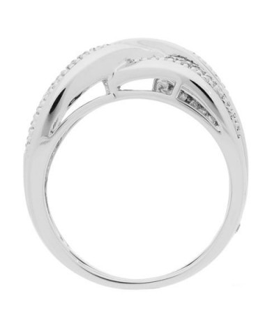 0.25 Carat Round Brilliant Diamond Woven Bands 18Kt White Gold