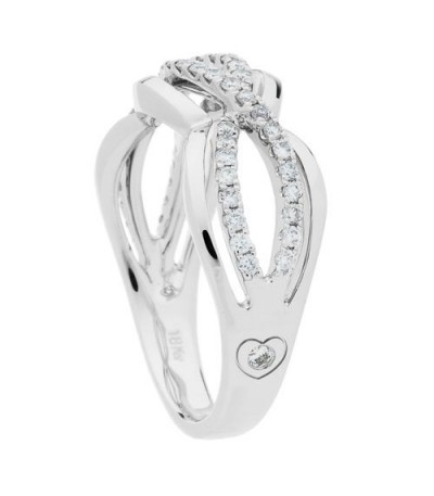 0.34 Carat Round Cut Diamond Ring 18Kt White Gold