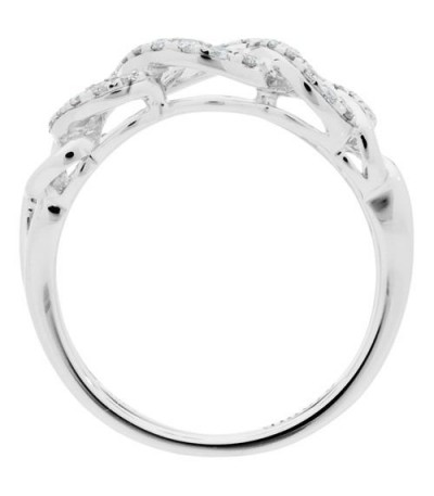0.30 Carat Round Brilliant Diamond Ring 18Kt White Gold
