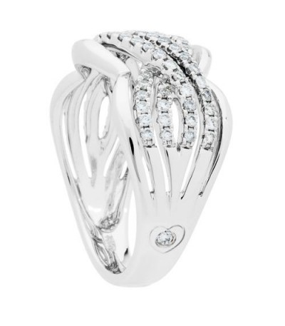 0.50 Carat Round Brilliant Diamond Ring 18Kt White Gold