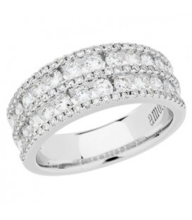 Rings - 1.20 Carat Round Brilliant Diamond Ring 18Kt White Gold