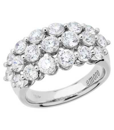 Rings - 2.55 Carat Round Brilliant Diamond Ring 18Kt White Gold