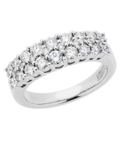 Rings - 1.01 Carat Round Brilliant 18Kt Diamond Ring White Gold