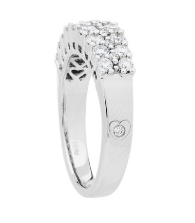 1.01 Carat Round Brilliant 18Kt Diamond Ring White Gold