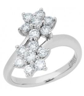 More about 1.00 Carat Round Brilliant Diamond Ring 18Kt White Gold