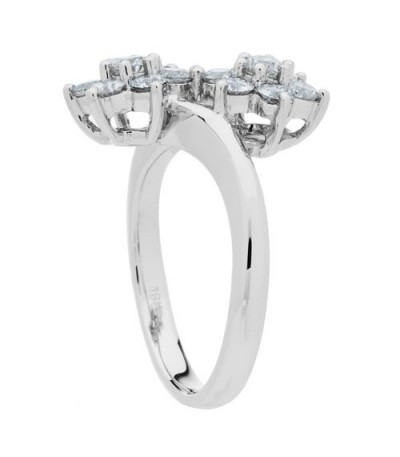 1.00 Carat Round Brilliant Diamond Ring 18Kt White Gold