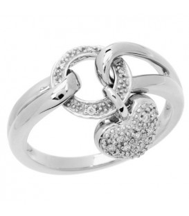 0.13 Carat Round Brilliant Diamond Ring 18Kt White Gold