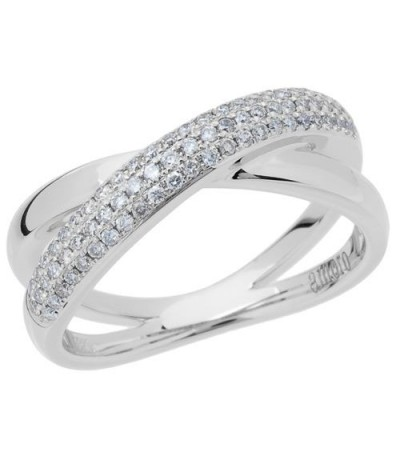 Rings - 0.29 Carat Round Brilliant Diamond Ring 18Kt White Gold