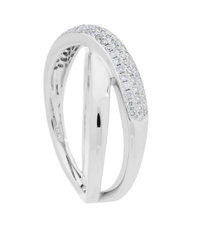 0.29 Carat Round Brilliant Diamond Ring 18Kt White Gold