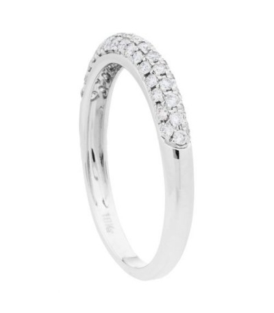0.33 Carat Round Brilliant Diamond Ring 18Kt White Gold