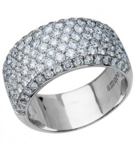 Rings - 2.05 Carat Round Brilliant Diamond Ring 18Kt White Gold