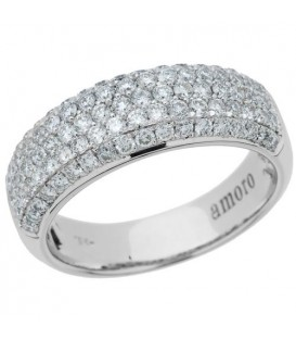 Rings - 1.00 Carat Round Brilliant Diamond Ring 18Kt White Gold