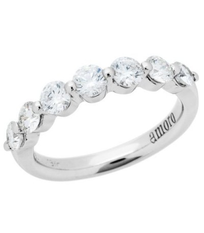 Rings - 1.02 Carat Round Brilliant Diamond Ring 18Kt White Gold