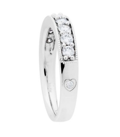 0.50 Carat Round Brilliant Diamond Anniversary Band 18Kt White Gold