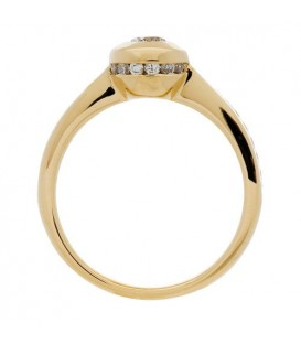 0.57 Carat Round Brilliant Diamond Ring 18Kt Yellow Gold