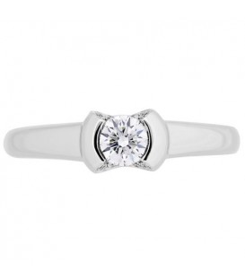 0.33 Carat Round Cut Diamond Ring 18Kt White Gold