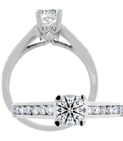 Rings - 1.00 Carat Round Brilliant Eternitymark Diamond Ring 18Kt White Gold